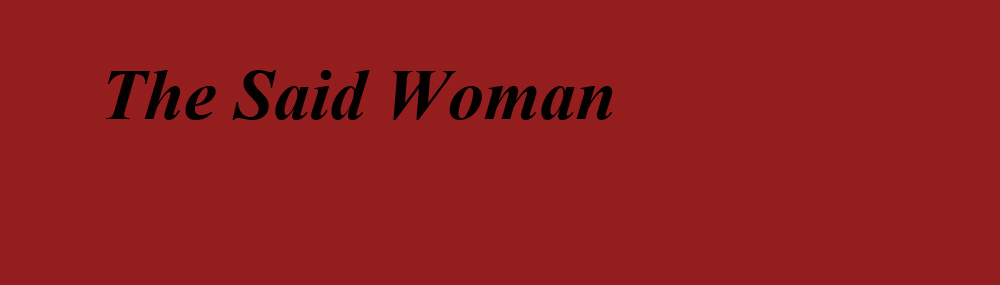 TheSaidWomanRED_title